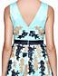 TS Couture® Cocktailfest Dress A-linje V-hals Knelang Charmeuse med Blonder