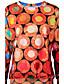Naiset Rento/arki College Painettu Pyöreä kaula-aukko Polyesteri Mikroelastinen