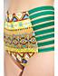 Bayanlar Yüksek Bel / Çiçekli Polyester Askısız Pedli Sutyen Bayanlar Bikiniler / Tankiniler