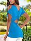 Damen Solide Sexy Einfach Street Schick Ausgehen Lässig/Alltäglich Urlaub T-shirt,U-Ausschnitt Frühling Sommer Kurzarm Polyester Mittel