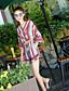 Dame Stripe Enkel Bohem Sparkedrakter,Avslappet Fritid/hverdag V-hals Sommer