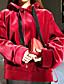 Damen Kapuzenshirt Sport Ausgehen Lässig/Alltäglich Einfach Aktiv Boho Solide Fleece-Futter Mikro-elastisch Baumwolle Leinen AcrylLange