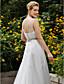 גזרת A שובל קורט תחרה טול שמלת חתונה עם חרוזים אפליקציות כפתור על ידי LAN TING BRIDE®