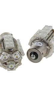 2 x 18 multi-funktionelle LED-pærer - bremse lys - baglygte - igen lys (S25-ba15s-18-W)