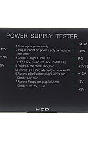 pc datamaskin ATX + hdd + sata strømforsyning tester