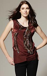 ts handgefertigten Glasperlen Design ärmellose Bluse Shirt