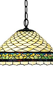 Tiffany-Stil Fischschuppen Glasmalerei Pendelleuchte mit 2 Leuchten