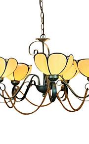 Tiffany-Stil warme Farbe Pendelleuchte mit 5 Leuchten