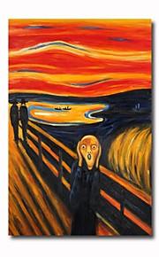 håndmalt oljemaleri skriket av Edvard Munch med strukket ramme