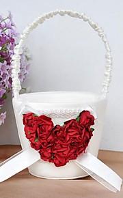 panier de fleurs avec un cœur de rose fille de fleur panier
