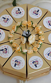 Floral Theme Cake Favor Box (Set of 10)