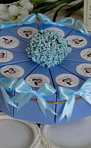 bébé la lumière du ciel bleu souffle faveur boîte à gâteau (jeu de 10)