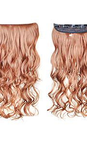 clip in synthetisch krullend hair extensions met 5 clips - 6 kleuren beschikbaar