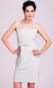 TS Yarn Organza Bow Sheath Dress