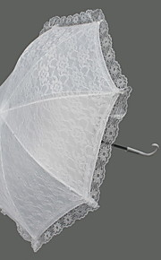 "Wedding Lace Umbrella Hook Handle 21.3""(Approx.54cm) Plastic 24.4""(Approx.62cm)"