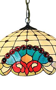 POCATELLO - Lüster Tiffany Floral mit 2 Glühbirnen