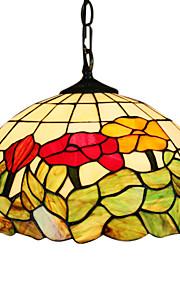 CORAM - Lüster Tiffany Floral mit 2 Glühbirnen
