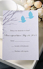 Personalize Wedding Response Cards - Winter Leaving (Set of 50)