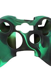 beschermende dual-color siliconen case voor de Xbox 360 controller (zwart en groen)