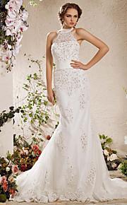 Lanting Bride® Trompette / Sirène Grandes Tailles / Petites Tailles Robe de Mariage - Elégant & LuxueuxScintillant & Brillant /