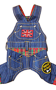 Dog Clothes/Jumpsuit Blue Dog Clothes Winter Spring/Fall Jeans Fashion Cowboy