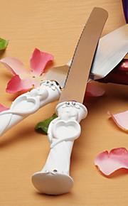 Serving Sets Wedding Cake Knife Bride and Groom Design Cake Knife/Server Set