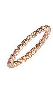 prachtige 18k vergulde cirkel vorm mode-ring