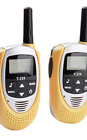 22 mini-channel walkie talkie (range 5 km, 2-pack, giallo)