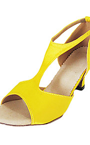 Customized Women's Silk T-Strap Latin / Ballroom Dance Performance Shoes With Buckle (More Colors)