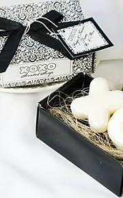 Praktische Gunsten-2 Bath & Zeep Klassiek Thema Wit / Zwart Linten / Label