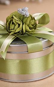 6 Piece/Set Titulaire de Faveur-Cylindre Métal Boîtes à cadeaux Cannette de cadeau Non personnalisé