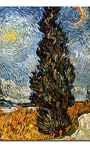 """Hand-painted Famous Oil Painting with Stretched Frame 24"""" x 24"""" by Van Gogh"""