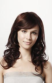16inch capless lang lichaam krullend bruin 100% human hair 5 kleuren te kiezen