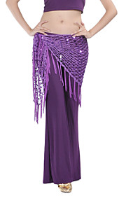 Belly Dance Hip Scarves Women's Training Chinlon Tassel(s) 1 Piece Black / Light Blue / Pink / White / Yellow Belly DanceSpring, Fall,