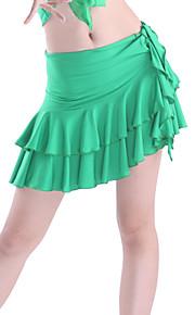 Latin Dans Skjorter Dame Træning Viskose Niveauer Grøn / Rød Latin Dans Forår, Efterår, Vinter, Sommer Naturlig
