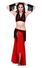 dancewear spandex met kwastjes prestaties dans outfit voor dames meer kleuren