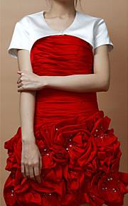 satin élégant manches courtes veste soirée / mariage soirée des femmes / envelopper (plus de couleurs) bolero haussement