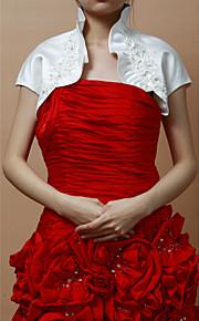 Soirée élégant satin / dentelle femme manches courtes / Mariage veste / enveloppe avec des fleurs (plus de couleurs)