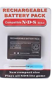 oplaadbare batterij pack voor nintendo ds lite + schroevendraaier (2000mAh)