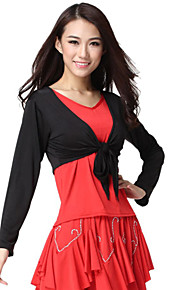 Dancewear Viscose met lange mouwen Latin Dance Top voor dames meer kleuren