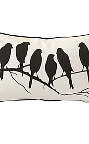 Birds' Whisper Print Decorative Pillow Cover