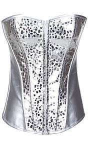 charmante pu bustier avant corsets de fermeture à glissière shapewear lingerie sexy shaper