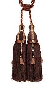 Polyester Classic Solid Tassel (One Pair)