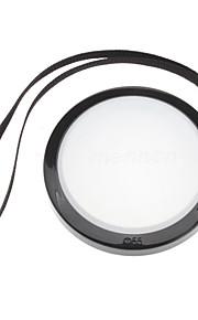 MENNON 55mm Camera Witbalans lensdop Cover met Hand Strap (Zwart & Wit)
