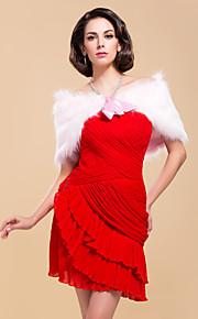 elegante faux fur met linten bruiloft / speciale gelegenheid shawl / wrap bolero schouderophalen