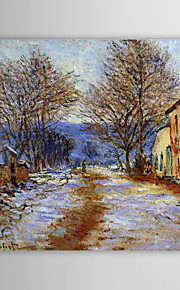 Huile célèbre tableau un effet de neige à Limetz de Claude Monet