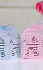 Baby Shower Party Favors & Gifts # Bedank Doosjes Parel Papier Tuin Thema Kubusvormig Niet-gepersonaliseerd Roze/Blauw