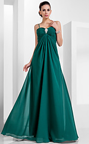 Formal Evening / Military Ball Dress - Elegant Plus Size / Petite A-line / Princess Sweetheart / Spaghetti Straps Floor-length Chiffon