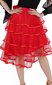 Dancewear Viscose and Tulle Latin Dance Skirt For Ladies More Colors
