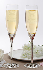 Personalized Vintage Toasting Flutes